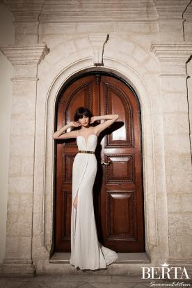 שמלת כלה קלאסית חגורת זהב