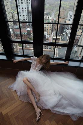 שמלת כלה מקסי טול נפוח