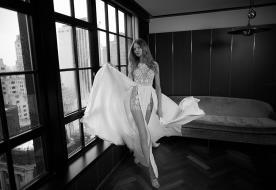 שמלת כלה שסעים עמוקים