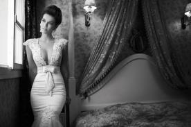 שמלת כלה חגורת פפיון