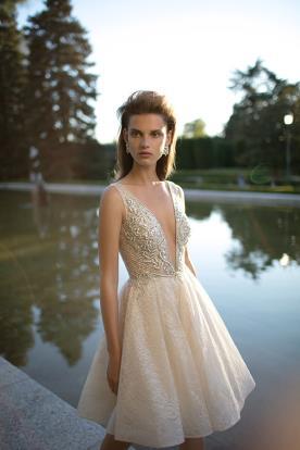 שמלת כלה מיני שמנת