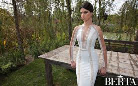 שמלת כלה נועזת דוגמה בשרוולים