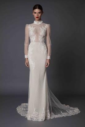 שמלת כלה עם צאוורון תחרה