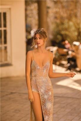 שמלת כלה בצבע שמפניה