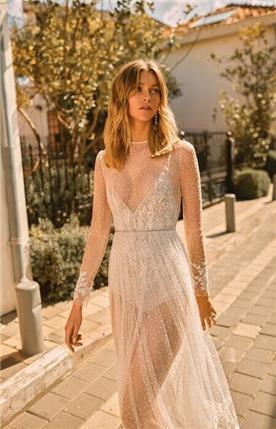 שמלה כלה שרוול ארוך תחרה