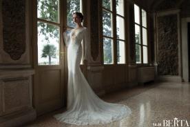 שמלת כלה שמנת מחשוף עמוק