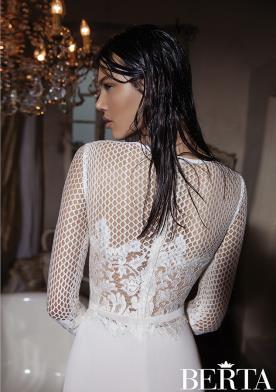 שמלת כלה טופ רשת מחורזת