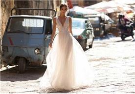 שמלת כלה קלאסית מחשוף