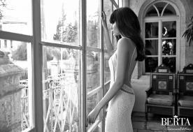 שמלת כלה מנצנצת עם חתך