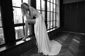 שמל כלה שסע משי סאטן