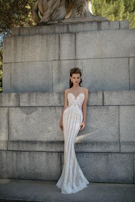 שמלת כלה דוגמת פסים