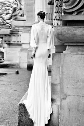 שמלת כלה צנועה בסגנון ויקטוריאני