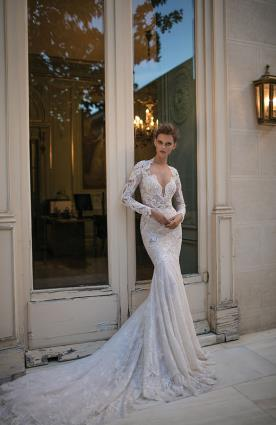 שמלת כלה מקסי שובל לבן
