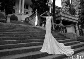 שמלת כלה תחרה נשפכת