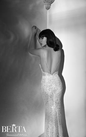 שמלת כלה מחשוך גב מנצנץ
