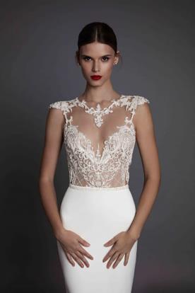 שמלת כלה מחשוף לב