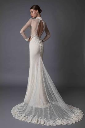 שמלת כלה טול מנוקד