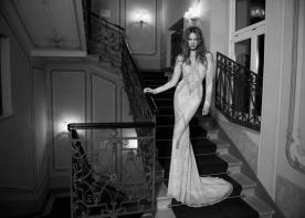 שמלת כלה דוגמת חרוזים מעויינת