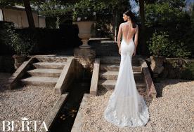 שמלת כלה מחשוף לב בגב