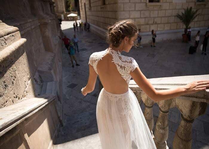שמלת כלה שרוול קצר