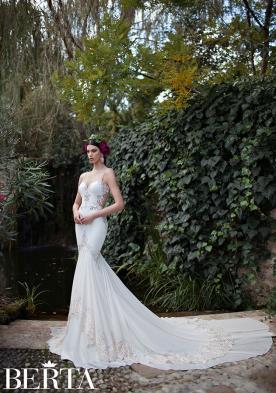 שמלת כלה לבנה תחרה שמנת
