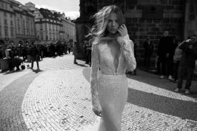 שמלת כלה רומנטית חגורתת פפיון
