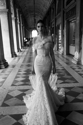 שמלת כלה סטרפלס אורגנזה