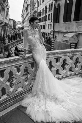 שמלת כלה עם עליונית אורגנזה