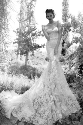 שמלת כלה מקסי תחרת פרחים