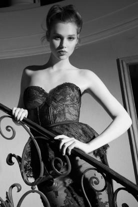 שמלת ערב פפלום תחרה