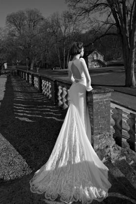 שמלת כלה שרוולי משי