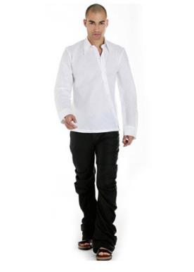 חליפת חתן- חולצה גימור באלכסון