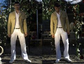 חליפת שני חלקים-בלייזר עם כיסים עליונים