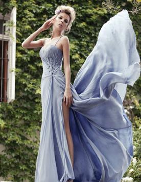 שמלת ערב קסומה בגוון לילך