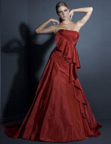שמלת ערב מלכותית נועזת