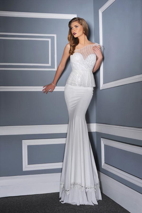 שמלת כלה פפלום עם עליונית