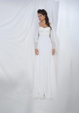 שמלת כלה סטרפלס ותחרה
