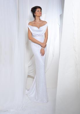 שמלת כלה עדינה בדגם אוף שולדר