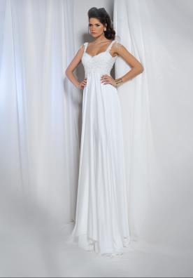 שמלת כלה קלאסית עם כתפיות חרוזים