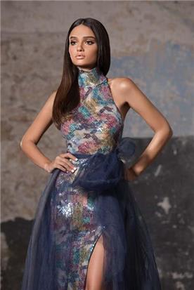 שמלות ערב עם אבנים