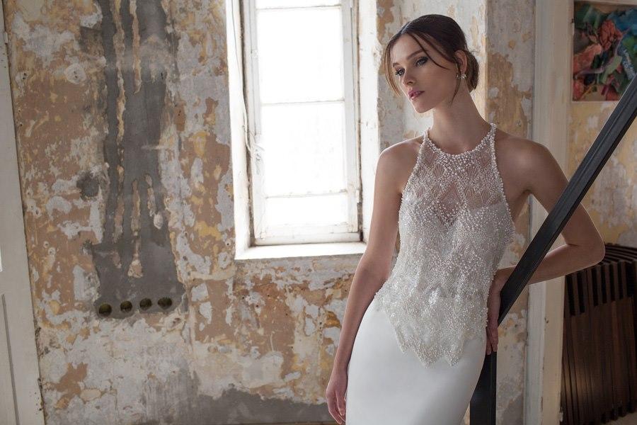 שמלת חרוזים בחלק העליון שני חלקים