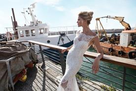 שמלת כלה צמודה למראה מלוטש