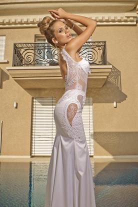 שמלת כלה סאטן ותחרה