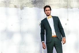 חליפת חתן: חליפה בצבע ירוק, חליפת שלושה חלקים, חליפה בגזרה ישרה, חליפה בדוגמה חלקה - סאלינה  SALINA - חליפות חתן