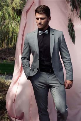 חליפת חתן שחור-לבן