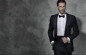 חליפת חתן שחורה עם עניבת פפיון