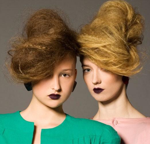 איפור שיער בסגנון אוונגרדי