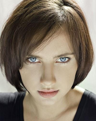 איפור שיער לשיער ברונטי קצר