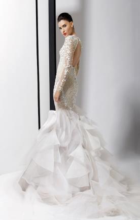 שמלת כלה אורגנזה נפוחה