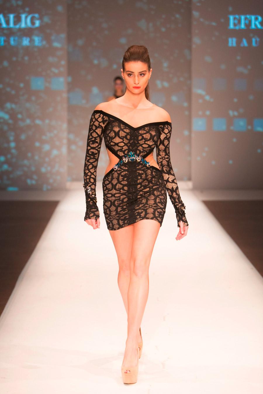 שמלת ערב מיני שחורה נועזת